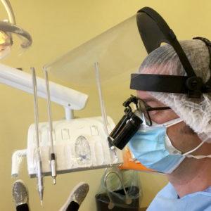 Visiera professionale dentista odontotecnico protettiva covid certificata ce con occhiali e maschera